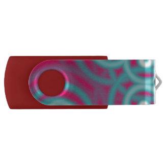 preppy modern girly pattern hot pink fuschia swivel USB 2.0 flash drive
