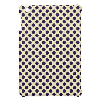 Preppy navy & tan polka dot dots nautical pattern iPad mini cover