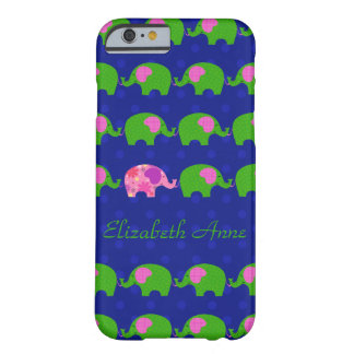 Preppy Pink and Green Elephants iPhone6 Case