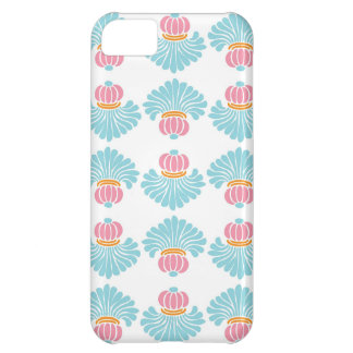 Preppy pink blue arabesque damask girly pattern iPhone 5C case