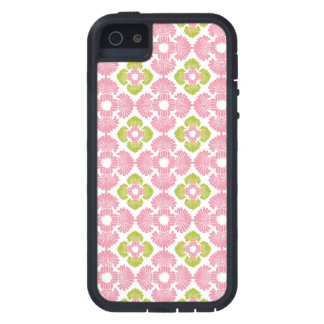 Preppy pink green arabesque damask girly pattern iPhone 5 cases