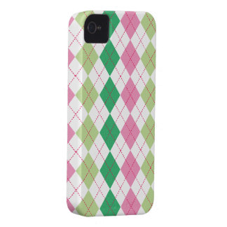 Preppy Pink & Green Argyle Case-Mate ID™ iPhone 4