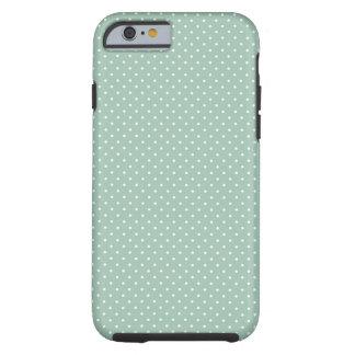 Preppy polka dot pindot mint green pattern tough iPhone 6 case