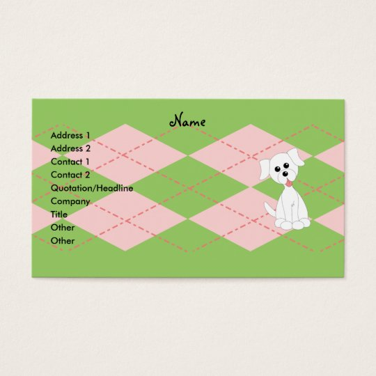 Preppy Puppy Business Card
