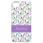 Preppy Purple Green Teal Tennis Personalised Case For The iPhone 5