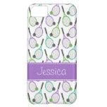 Preppy Purple Green Teal Tennis Personalised iPhone 5C Case