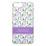 Preppy Purple Green Teal Tennis Personalised iPhone 7 Plus Case