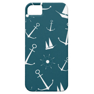 Preppy retro vintage anchors nautical anchor barely there iPhone 5 case