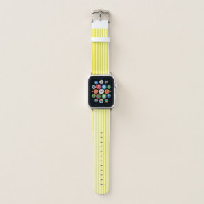 Preppy Yellow Striped Apple Watchband Apple Watch Band
