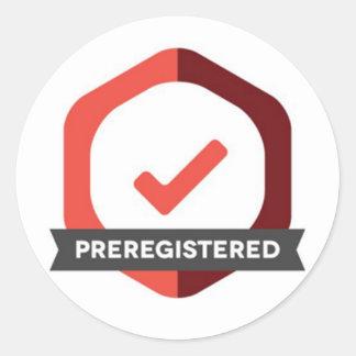 Preregistered Badge Sticker