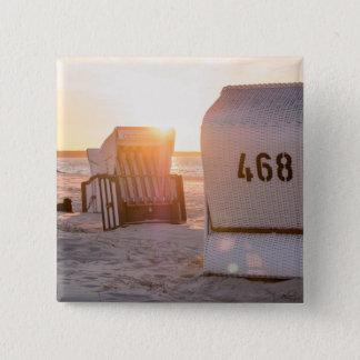 Prerow sunset 15 cm square badge