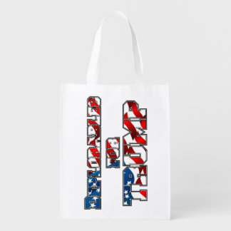 PRES45 DEPLORABLES FOR TRUMP REUSABLE GROCERY BAG