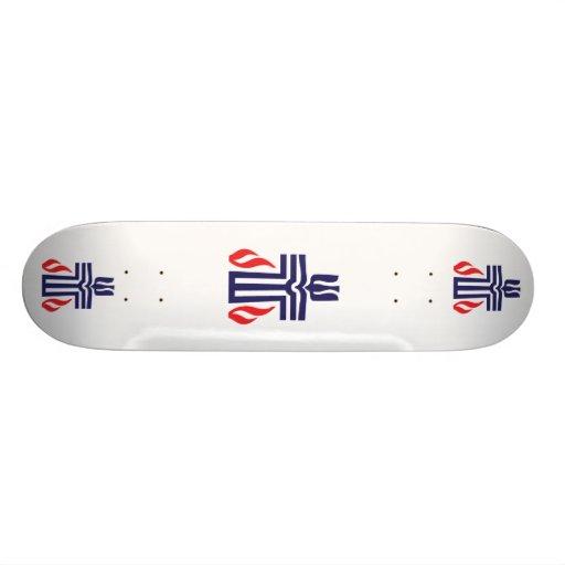 Presbyterian symbol custom skateboard