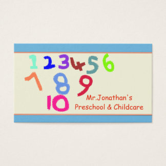 Preschool and Childcare Business Card