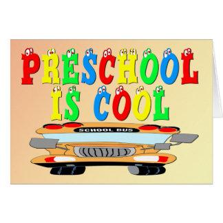 Preschool Cool Bus Greeting Card