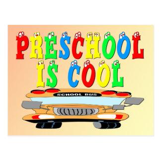 Preschool Cool Bus Postcard
