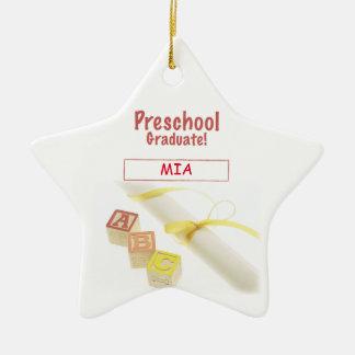 Preschool Graduation Blocks, Gift Item Ceramic Star Decoration