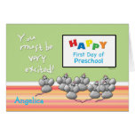 Preschool Happy First Day Mice and SMART Board Cards