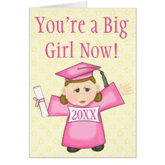 Preschool / Kindergarten Girl Graduation Card