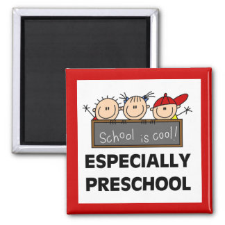 Preschool School is Cool Tshirts and Gifts Square Magnet