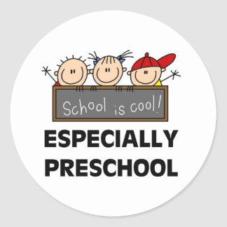 Preschool School is Cool Tshirts and Gifts Round Sticker