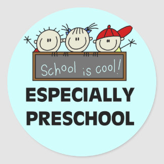 Preschool School is Cool Tshirts and Gifts Round Stickers