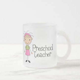 Preschool Teacher Frosted Glass Coffee Mug