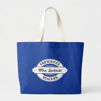 Preschool Teacher Personalized School Class Tote Jumbo Tote Bag