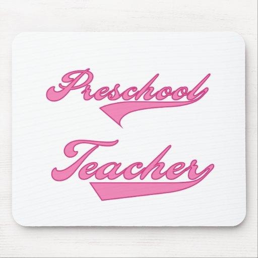 Preschool Teacher Pink Mouse Pad