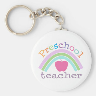 Preschool Teacher Rainbow Key Ring