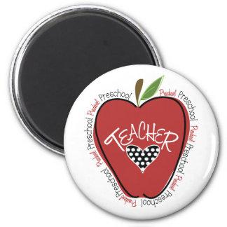 Preschool Teacher Red Apple Magnet