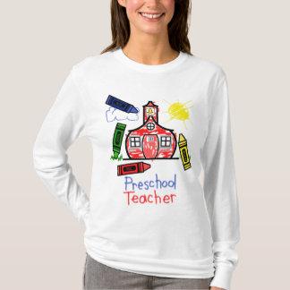 Preschool Teacher T Shirt - Schoolhouse & Crayons