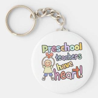 Preschool Teachers Have Heart Basic Round Button Key Ring