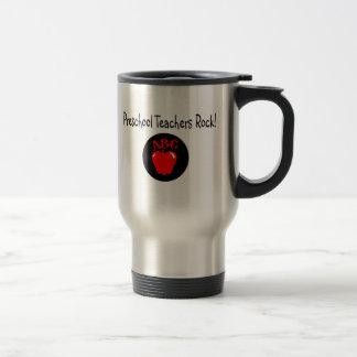 Preschool Teachers Rock Apple Stainless Steel Travel Mug