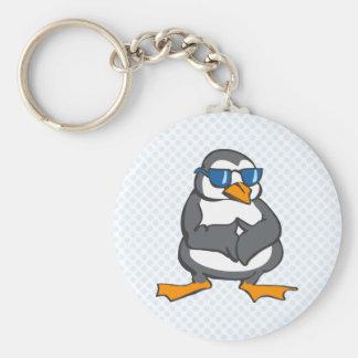 Prescott Penguin Basic Round Button Key Ring