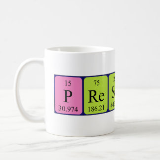 Prescott periodic table name mug