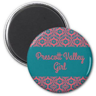 Prescott Valley Girl Button Customizable Magnet