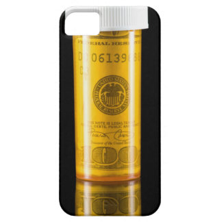 Prescription bottle with one hundred dollar bill barely there iPhone 5 case