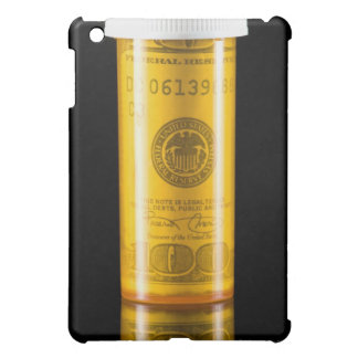 Prescription bottle with one hundred dollar bill case for the iPad mini