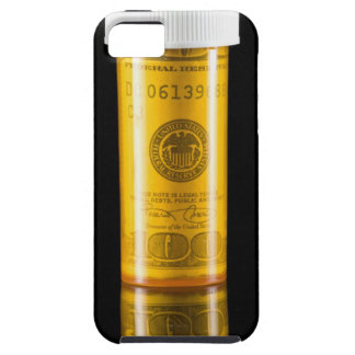 Prescription bottle with one hundred dollar bill iPhone 5 case