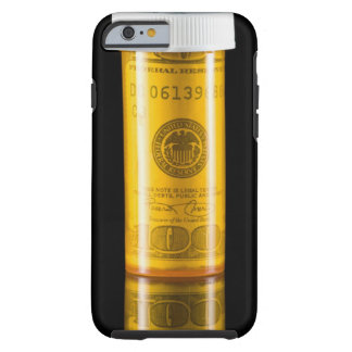 Prescription bottle with one hundred dollar bill tough iPhone 6 case