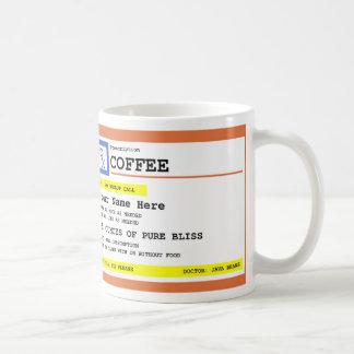 Prescription Coffee Personalized Basic White Mug