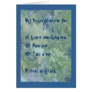 Prescription Greeting Card