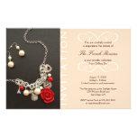 Present new luxury product elegant pink invitation custom flyer