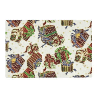 Present pattern paper laminated place mat