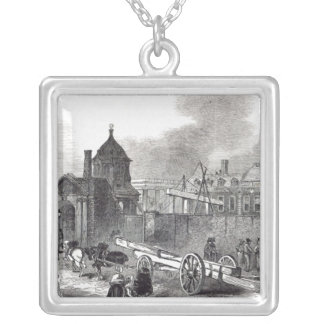 Present state of the British Museum Silver Plated Necklace