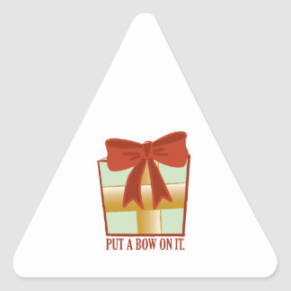 Present With Bow Triangle Sticker