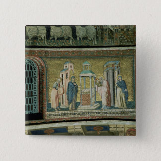 Presentation in the Temple, detail from the Story 15 Cm Square Badge