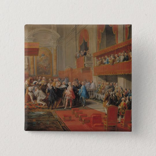 Presentation of Order of Holy Spirit to Prince 15 Cm Square Badge
