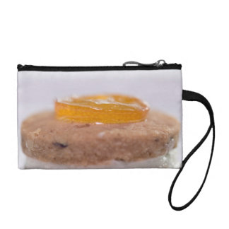 Presentation of Pastry with jelly Change Purses
